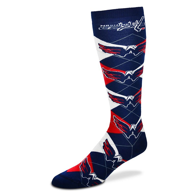 Women's For Bare Feet Washington Capitals Argyle Knee-High Socks