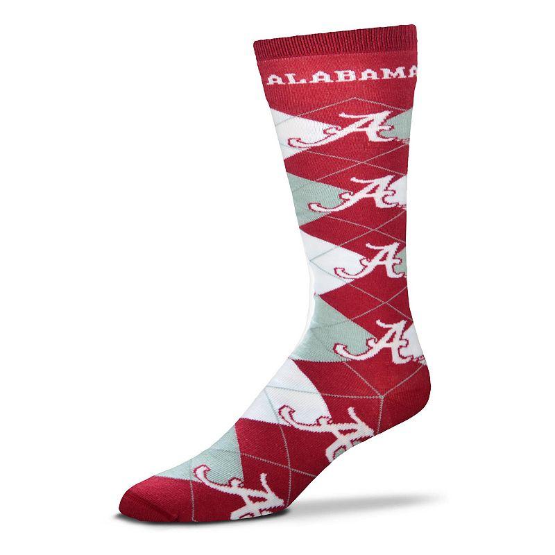 Women's For Bare Feet Alabama Crimson Tide Argyle Knee-High Socks
