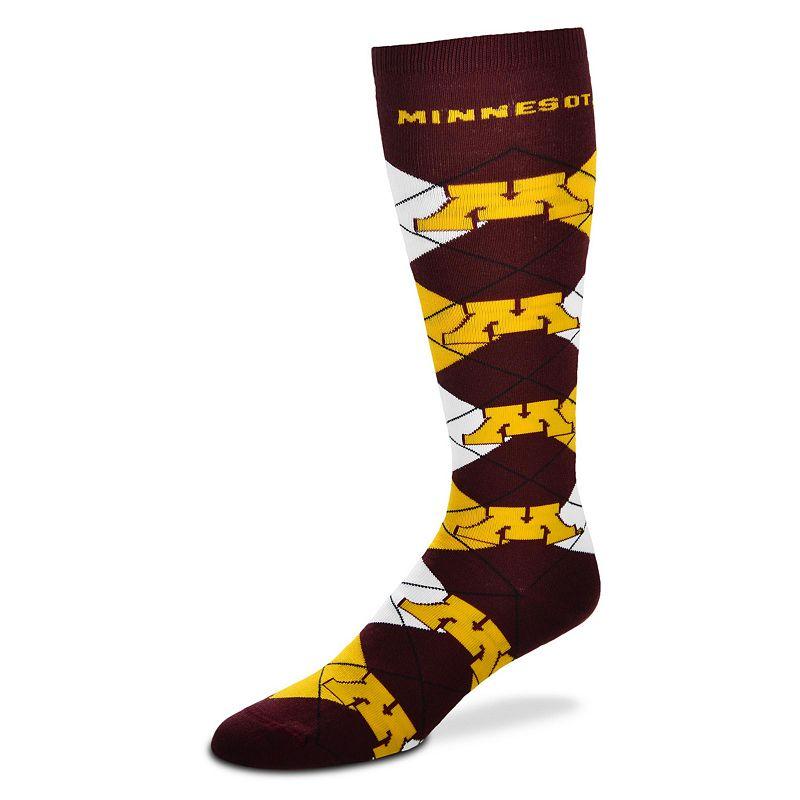 Women's For Bare Feet Minnesota Golden Gophers Argyle Knee-High Socks