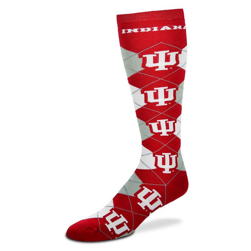 Women's For Bare Feet Indiana Hoosiers Argyle Knee-High Socks