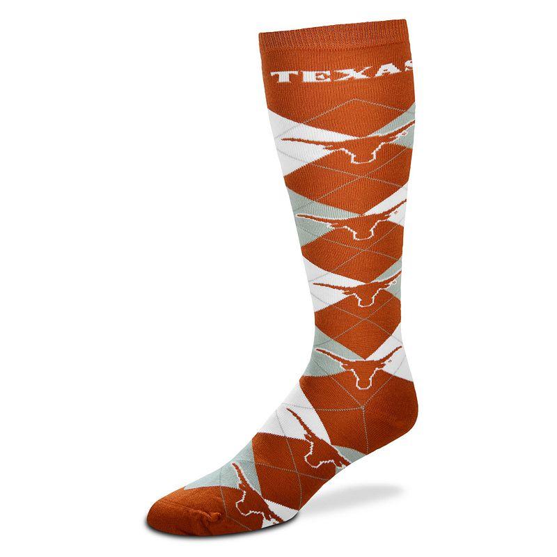 Women's For Bare Feet Texas Longhorns Argyle Knee-High Socks