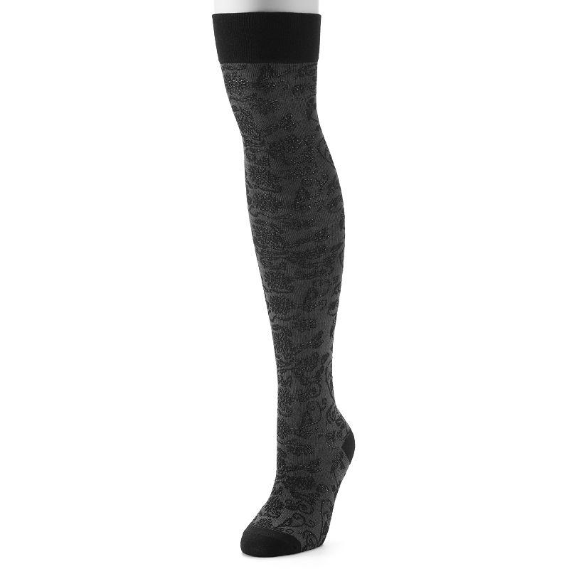 Apt. 9® Floral Over-The-Knee Socks - Women