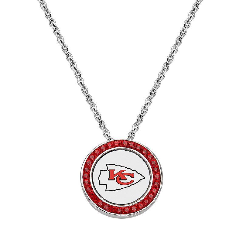 Kansas City Chiefs Team Logo Crystal Pendant Necklace - Made with Swarovski Crystals