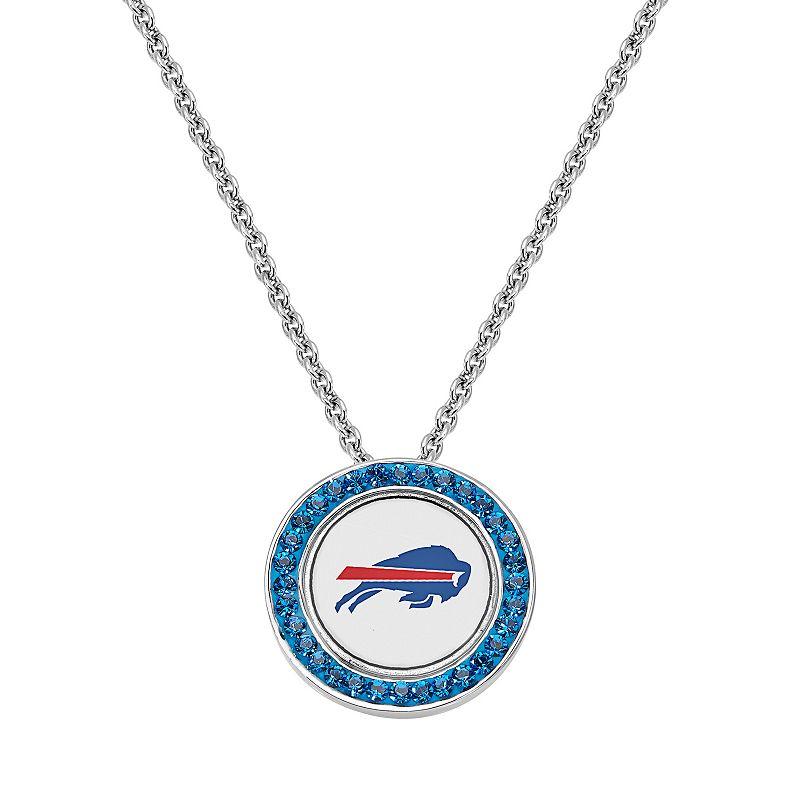 Buffalo Bills Team Logo Crystal Pendant Necklace - Made with Swarovski Crystals