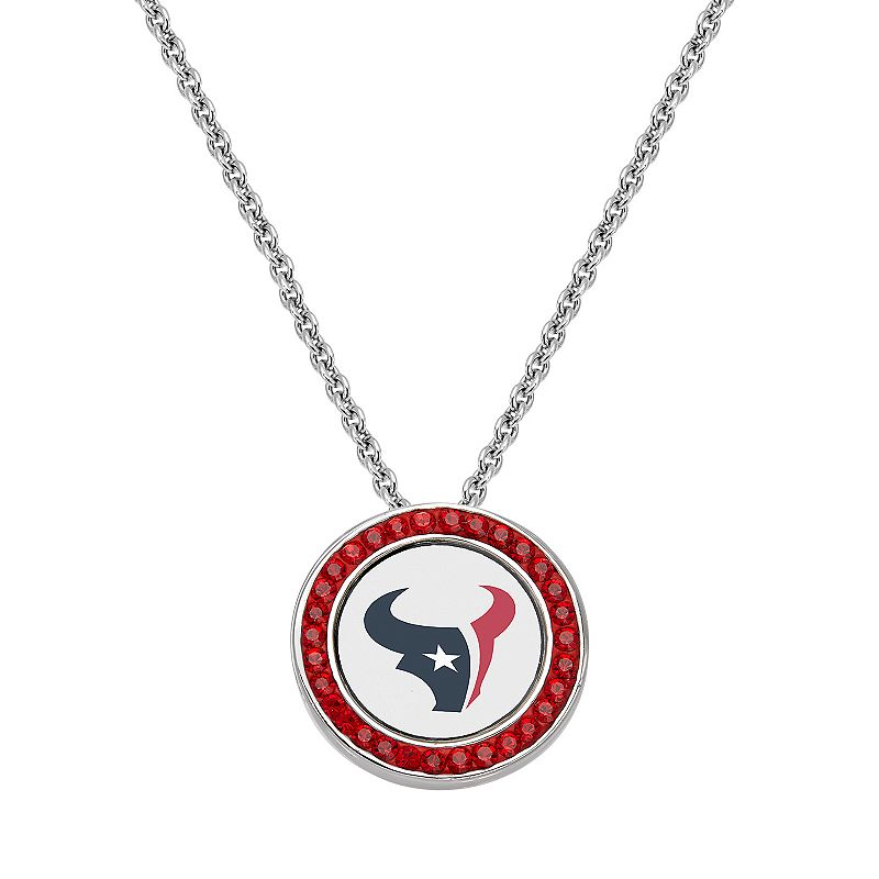 Houston Texans Team Logo Crystal Pendant Necklace - Made with Swarovski Crystals