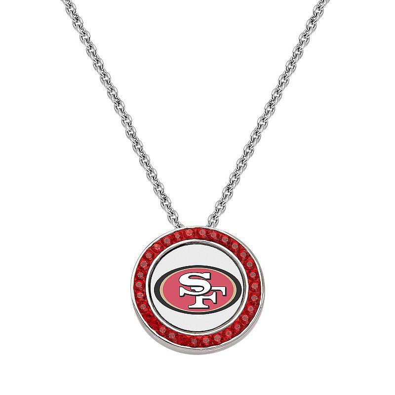 San Francisco 49ers Team Logo Crystal Pendant Necklace - Made with Swarovski Crystals