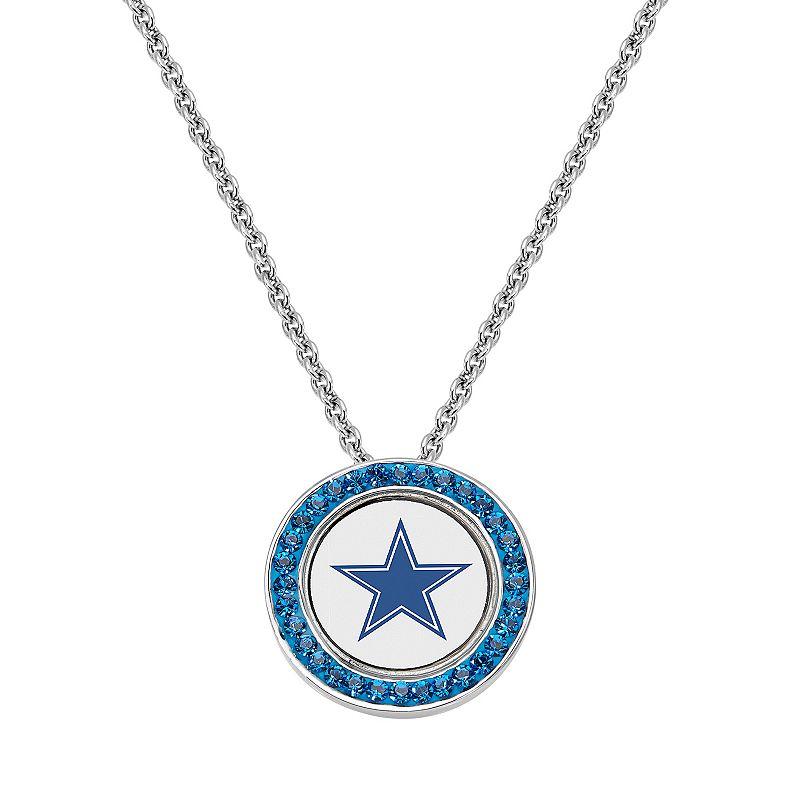 Dallas Cowboys Team Logo Crystal Pendant Necklace - Made with Swarovski Crystals