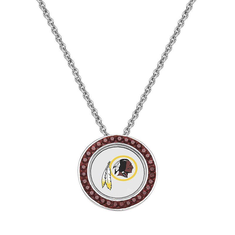 Washington Redskins Team Logo Crystal Pendant Necklace - Made with Swarovski Crystals