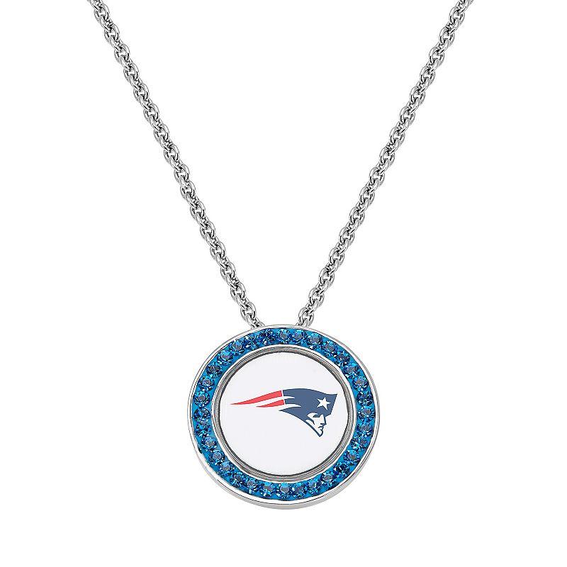 New England Patriots Team Logo Crystal Pendant Necklace - Made with Swarovski Crystals