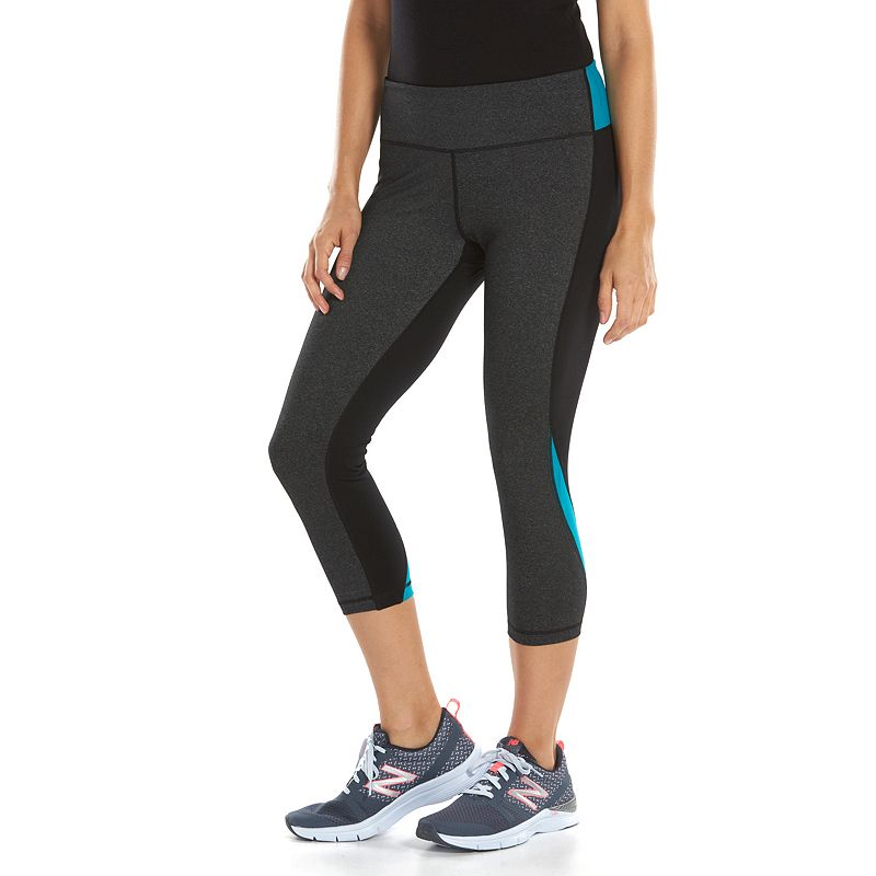 Free2B by Free Country Colorblock Workout Capri Leggings - Women's