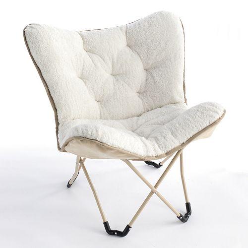 Simple by Design Sherpa Foam Butterfly Chair