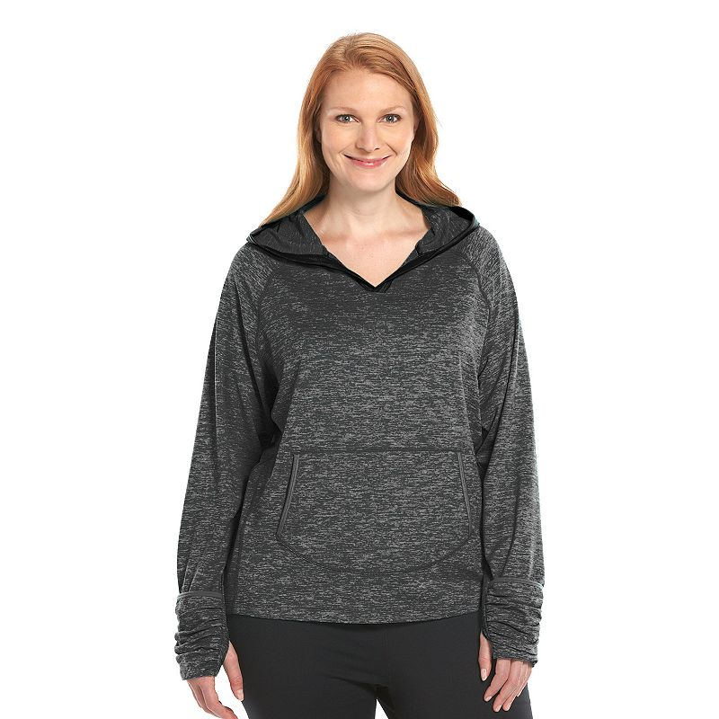 Plus Size Free2B by Free Country Split-Neck Hiking Hoodie
