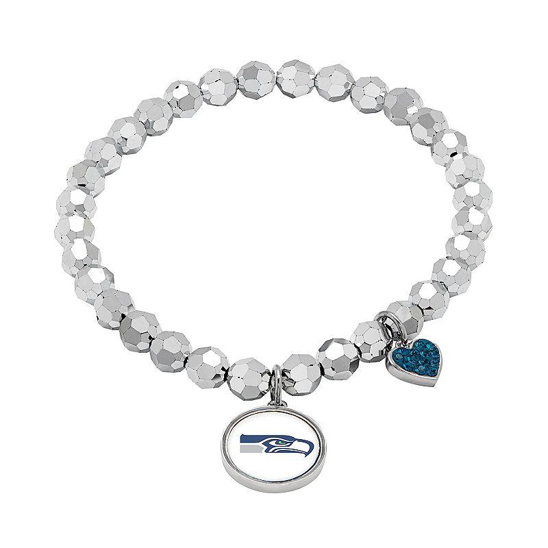 Seattle Seahawks Bead Stretch Bracelet