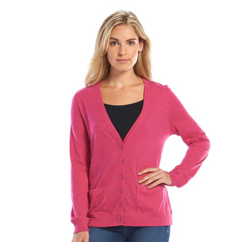 SONOMA Goods for Life™ Solid Slubbed Cardigan - Women's