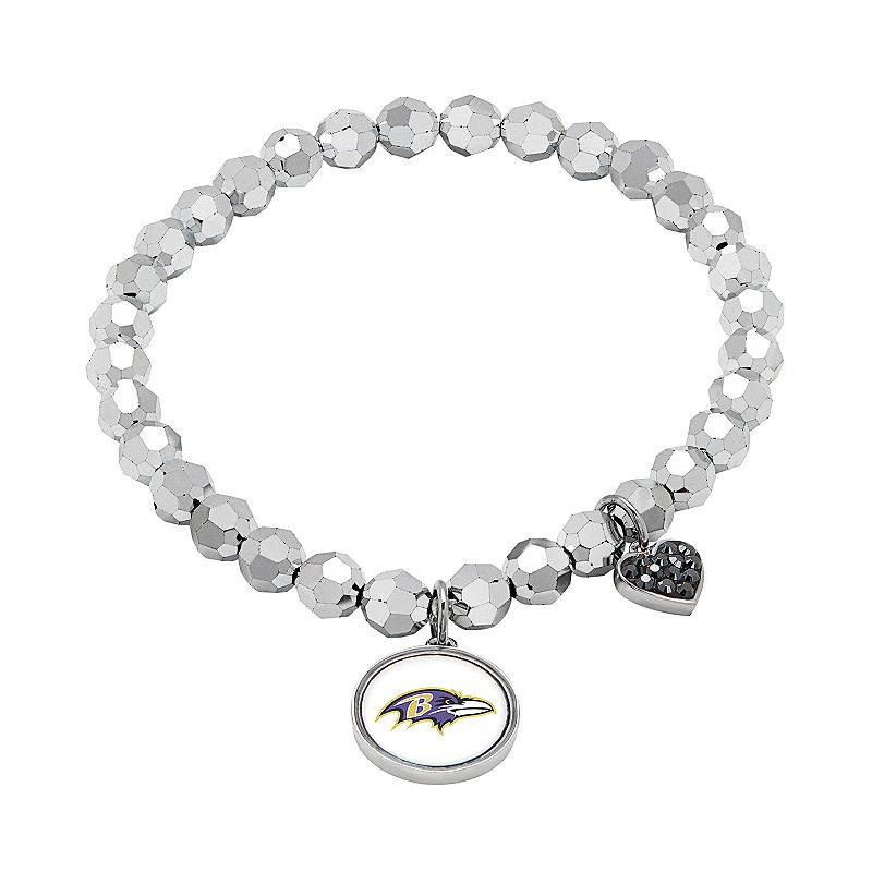 Baltimore Ravens Bead Stretch Bracelet