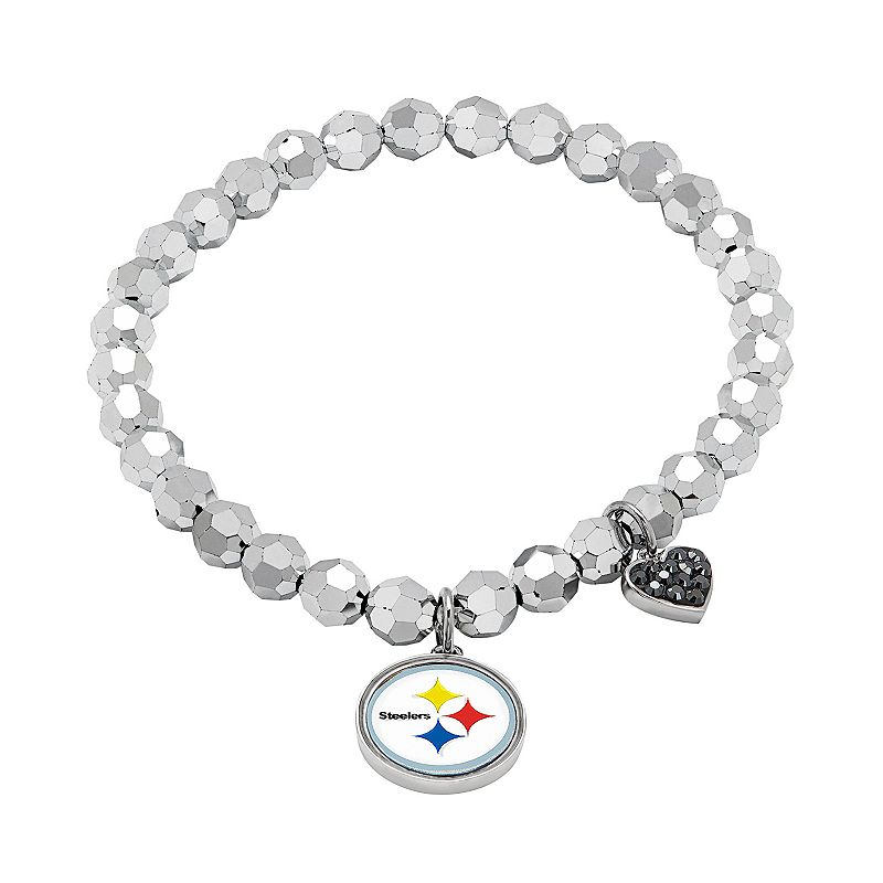 Pittsburgh Steelers Bead Stretch Bracelet