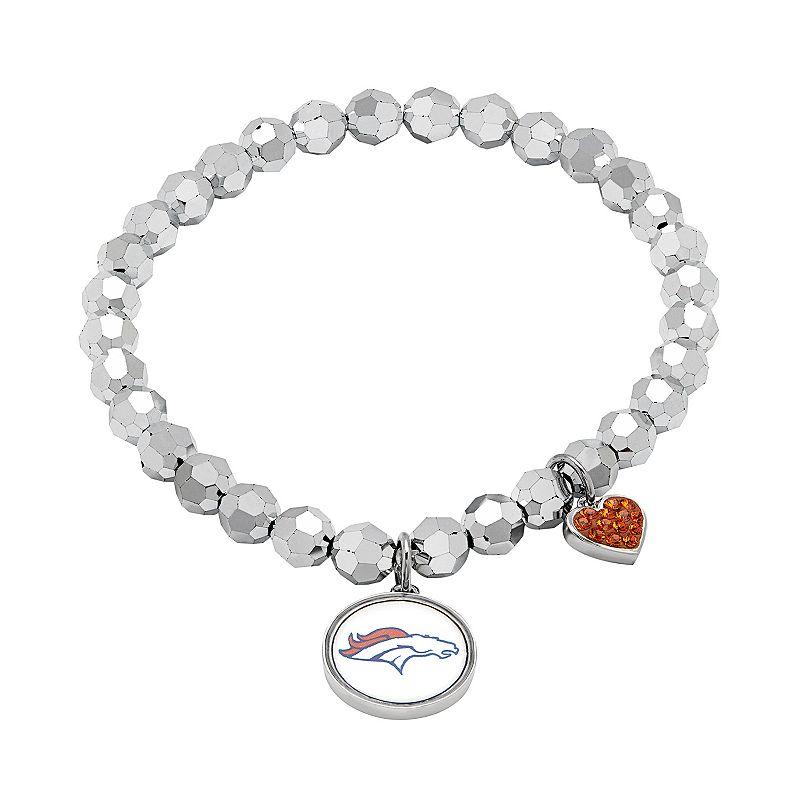 Denver Broncos Bead Stretch Bracelet