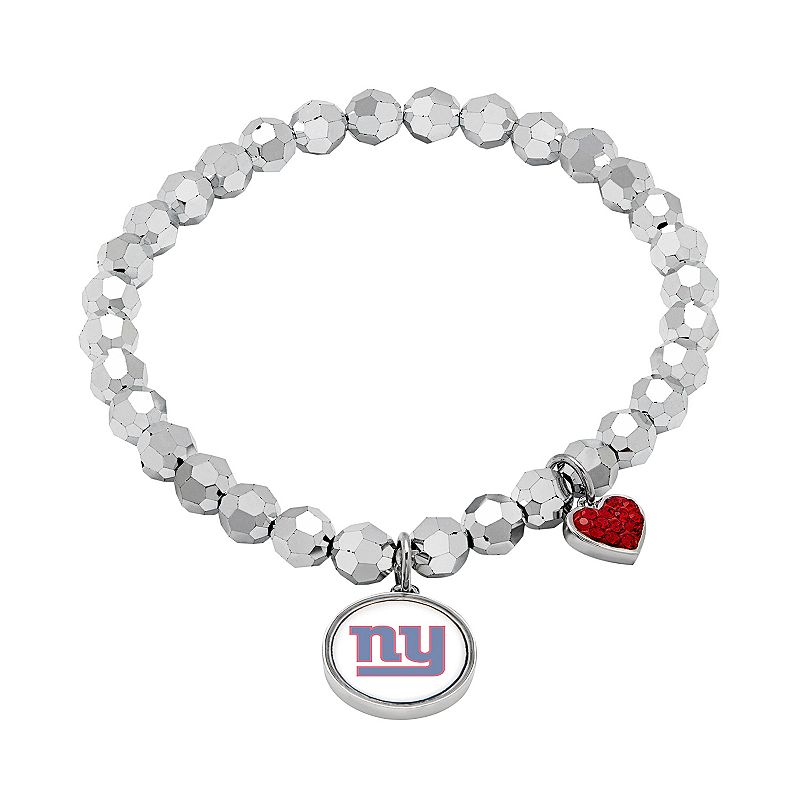 New York Giants Bead Stretch Bracelet