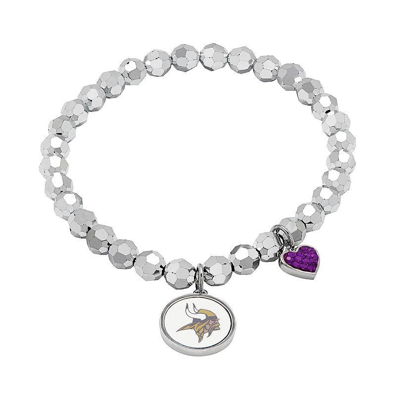 Minnesota Vikings Bead Stretch Bracelet