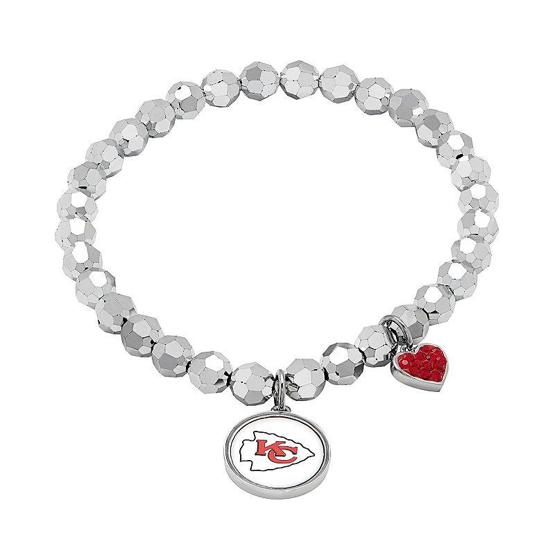 Kansas City Chiefs Bead Stretch Bracelet