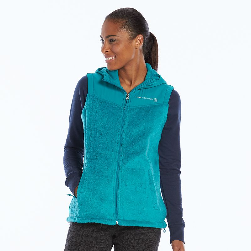 Plus Size Free2B by Free Country Hooded Fleece Vest