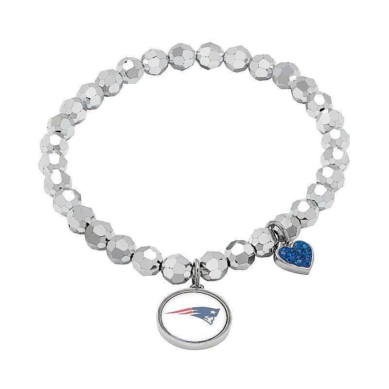 New England Patriots Bead Stretch Bracelet