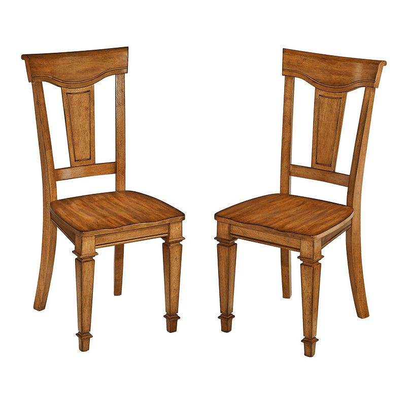Home Styles Americana 2-piece Oak Finish Dining Chair Set