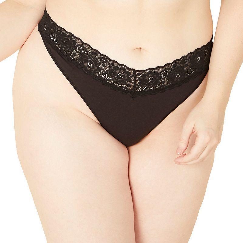 Plus Size COSABELLA Amore Adore Lace-Trim Thong Panty ADORE0341P