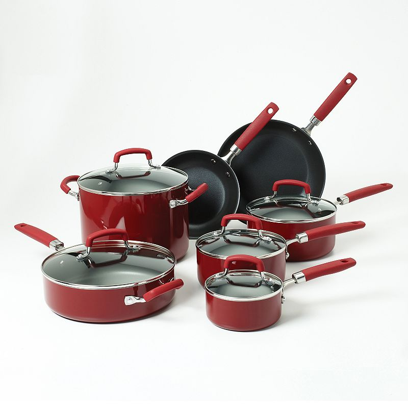 Bobby Flay™ 12-pc. Nonstick Aluminum Cookware Set