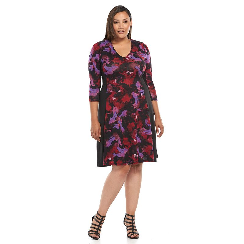 Plus Size Suite 7 Hatchi Knit Fit & Flare Dress