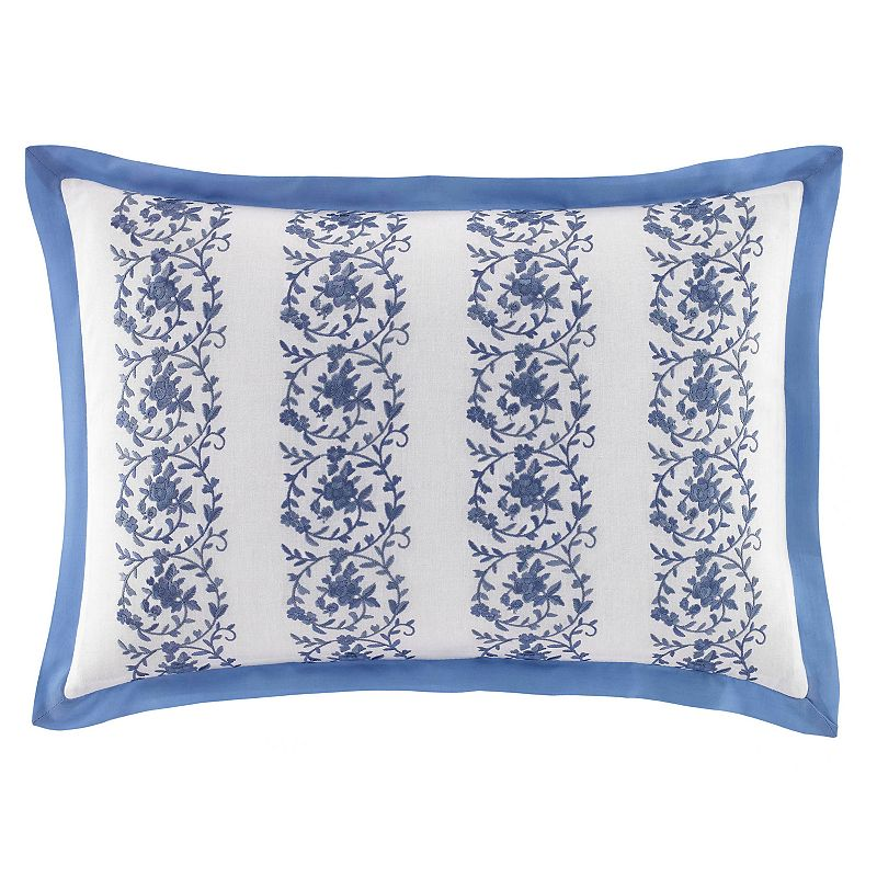 Laura Ashley Lifestyles Sophia Embroidered Throw Pillow