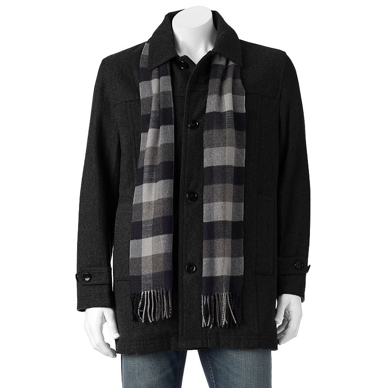 Men's Towne Wool-Blend Top Coat