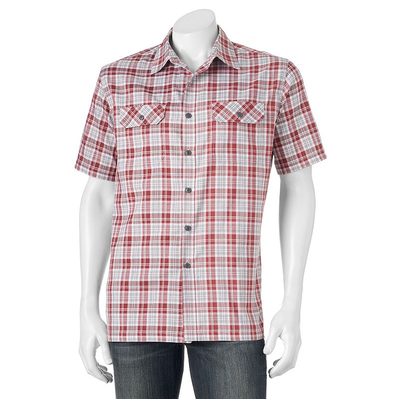 Red polyester short sleeve shirt kohl 39 s for Big and tall quick dry shirts
