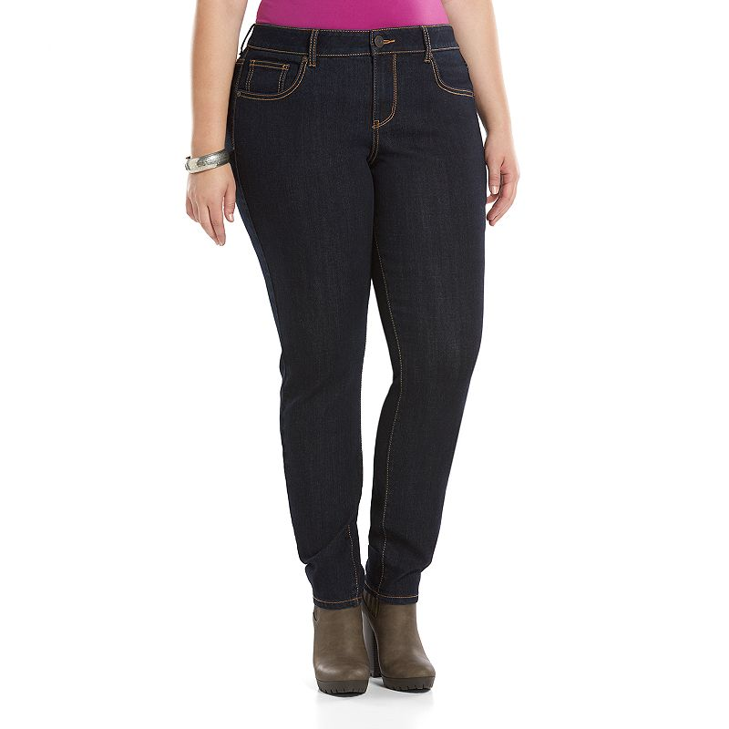 Juniors' Plus Size SO® Embroidered Pocket Skinny Jeans