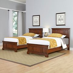 Home Styles 3-piece Chesapeake Twin Bed Frames and Night Stand Set by