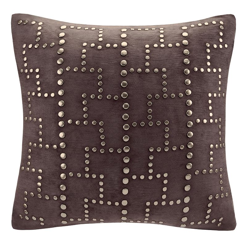 Madison Park Studded Faux Suede Throw Pillow
