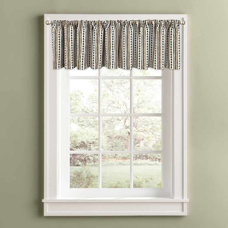 Colordrift Pine Stripe Valance - 60'' x 14''