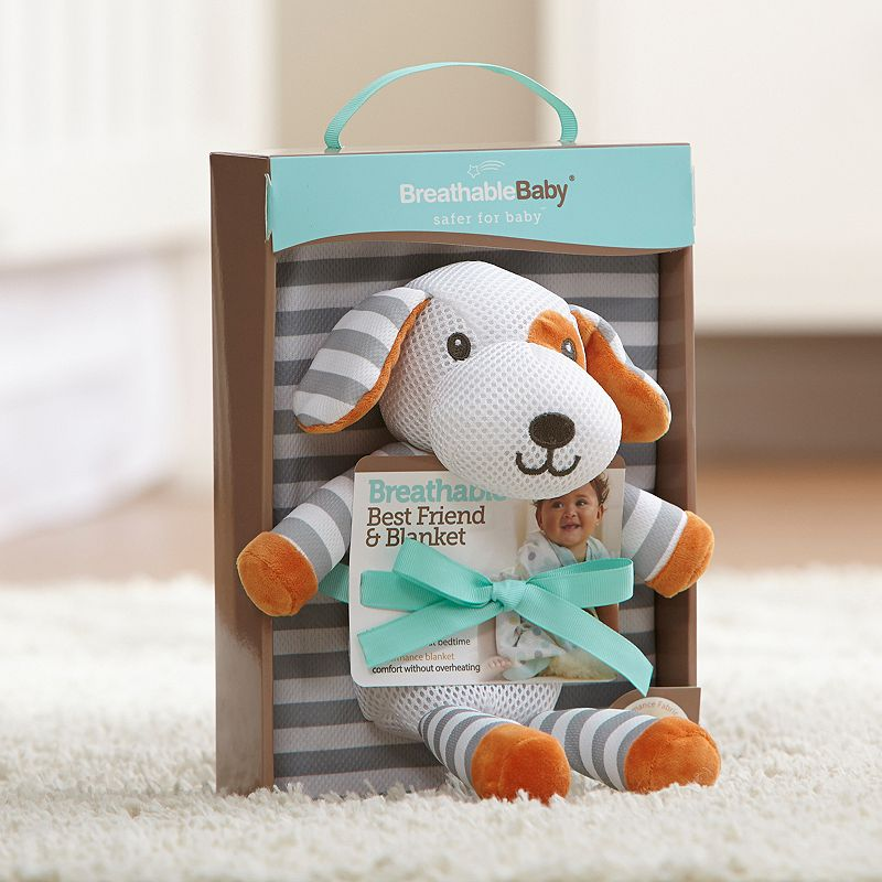 Breathable Baby Puppy Toy & Blanket Set