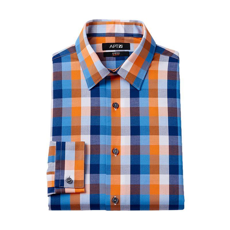 Men 39 s apt 9 slim fit stretch dress shirt dealtrend for Apartment 9 dress shirts