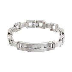 1/2 Carat T.W. Diamond Titanium Bracelet Men