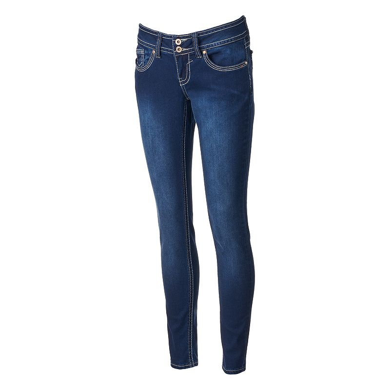 Hydraulic Lola Superskinny Juniors' Curvy Jeans (Blue)
