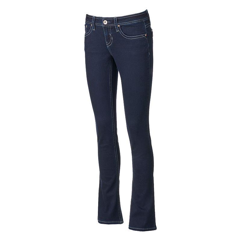 Hydraulic Lola Curvy Juniors' Bootcut Jeans, Size: 33 (Blue)
