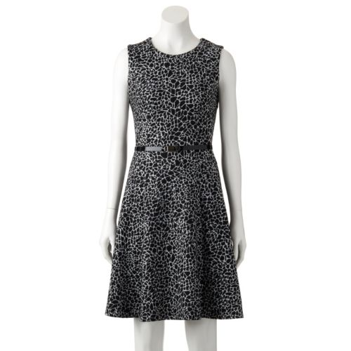 Women's Dana Buchman Print Ponte Fit & Flare Dress