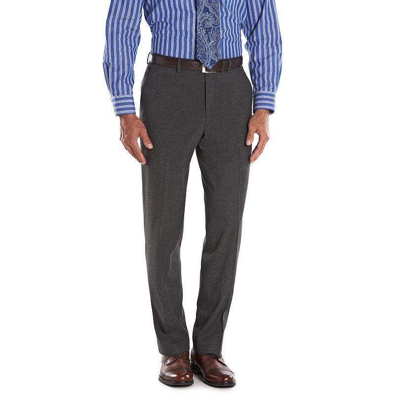 Men's Chaps Classic-Fit Gray Flannel Comfort Suit Pants