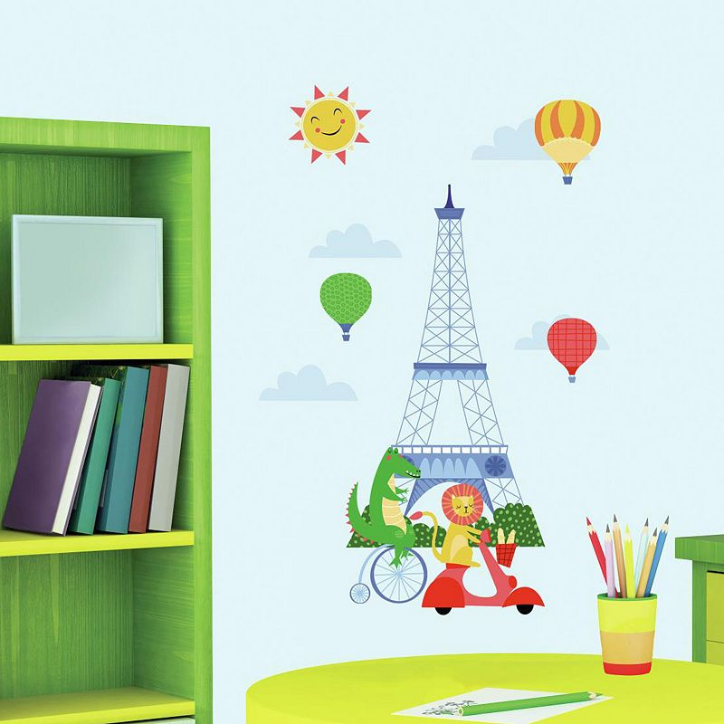 Animals In Paris Peel and Stick Wall Decals