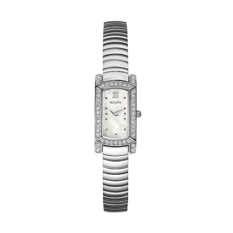 Bulova Women's Crystal Stainless Steel Watch - 96L207