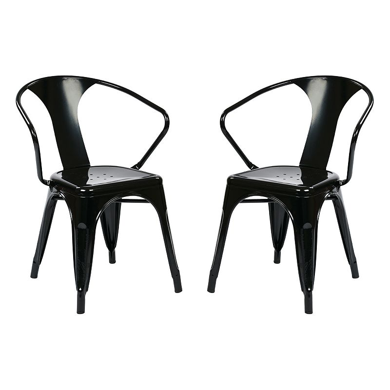 OSP Designs 2-piece Metal Chair Set
