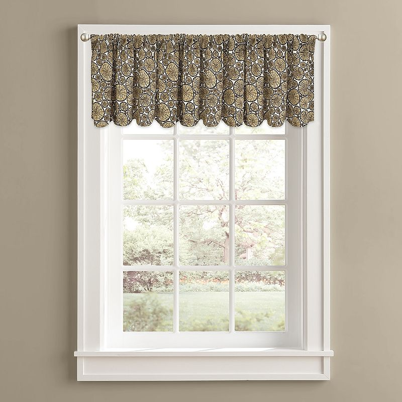 Colordrift Fire Wood Valance - 60'' x 14''