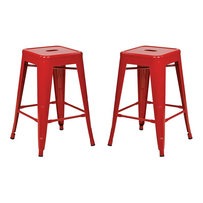 OSP Designs 2-piece Backless Counter Stool Set