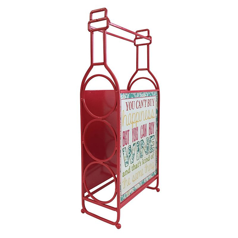 Boston Warehouse ''Can't Buy Happiness'' Wine Rack